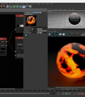 Cycles for CINEMA 4D 渲染器熔岩效果渲染视频教程JC