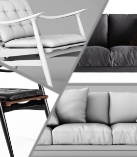 CINEMA 4D 高品质家具建模视频教程 - High Quality Furniture ModelingJC